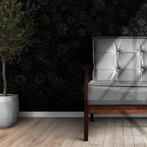 Papel De Parede - relevo de flores ilustração 3D Vinil 0,010mm - Autocolante Sob medida - Painel Impressão Digital - Fosco - Divididos em Rolos de 50cm - Todas as Imagens são MERAMENTE ILUSTRATIVAS.