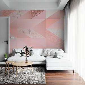 Papel De Parede - rosa feminino Vinil 0,010mm - Autocolante Sob medida - Painel Impressão Digital - Fosco - Divididos em Rolos de 50cm - Todas as Imagens são MERAMENTE ILUSTRATIVAS.