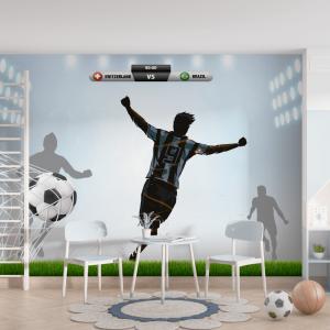 Papel De Parede - Street Futebol Vinil 0,010mm - Autocolante Sob medida - Painel Impressão Digital - Fosco - Divididos em Rolos de 50cm - Todas as Imagens são MERAMENTE ILUSTRATIVAS.