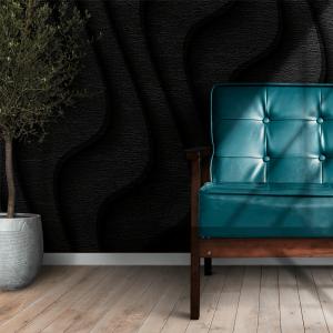 Papel De Parede - Textura preta de relevo ilustração 3D Vinil 0,010mm - Autocolante Sob medida - Painel Impressão Digital - Fosco - Divididos em Rolos de 50cm - Todas as Imagens são MERAMENTE ILUSTRATIVAS.