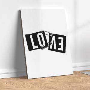 Quadro amor no papel rasgado Moldura Madeira de Reflorestamento - Fundo em Madeira 100% MDF 3mm  Impressão Digital Quadro de Moldura Com Vidro Com Ou Sem Moldura Vinil Texturizado