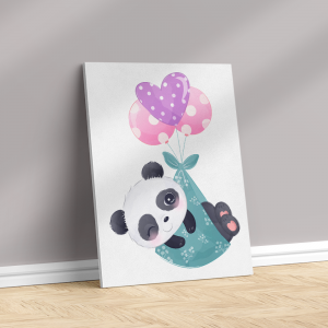 Quadro animais adoráveis panda bebês Moldura Madeira de Reflorestamento - Fundo em Madeira 100% MDF 3mm  Impressão Digital Quadro de Moldura Com Vidro Com Ou Sem Moldura Vinil Texturizado