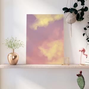 Quadro aquarela salpicada Moldura Madeira de Reflorestamento - Fundo em Madeira 100% MDF 3mm  Impressão Digital Quadro de Moldura Com Vidro Com Ou Sem Moldura Vinil Texturizado