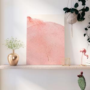 Quadro Arte vetorial aquarela pastel Moldura Madeira de Reflorestamento - Fundo em Madeira 100% MDF 3mm  Impressão Digital Quadro de Moldura Com Vidro Com Ou Sem Moldura Vinil Texturizado