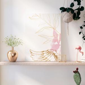 Quadro asa de anjo Moldura Madeira de Reflorestamento - Fundo em Madeira 100% MDF 3mm  Impressão Digital Quadro de Moldura Com Vidro Com Ou Sem Moldura Vinil Texturizado