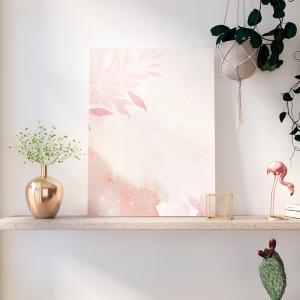Quadro borda rosa de fundo de flor Moldura Madeira de Reflorestamento - Fundo em Madeira 100% MDF 3mm  Impressão Digital Quadro de Moldura Com Vidro Com Ou Sem Moldura Vinil Texturizado