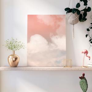Quadro céu em estilo feminino Moldura Madeira de Reflorestamento - Fundo em Madeira 100% MDF 3mm  Impressão Digital Quadro de Moldura Com Vidro Com Ou Sem Moldura Vinil Texturizado