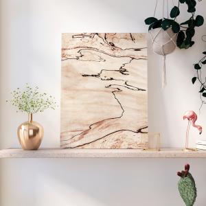 Quadro Close up de madeira Moldura Madeira de Reflorestamento - Fundo em Madeira 100% MDF 3mm  Impressão Digital Quadro de Moldura Com Vidro Com Ou Sem Moldura Vinil Texturizado