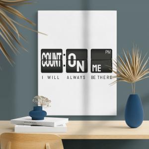 Quadro conte comigo Moldura Madeira de Reflorestamento - Fundo em Madeira 100% MDF 3mm  Impressão Digital Quadro de Moldura Com Vidro Com Ou Sem Moldura Vinil Texturizado