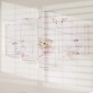Quadro Decorativo Mosaico LUXO - As Bailarinas No Pergolado Excelente qualidade  em vinil autocolante telado LUXO 1,25mt X 0,65cm Impressão Digital MDF - VINIL TELADO LUXO CONTÉM 5 PEÇAS TODAS EM MDF 6mm e impressão digital
