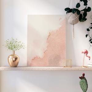 Quadro aquarela mancha rosa Moldura Madeira de Reflorestamento - Fundo em Madeira 100% MDF 3mm  Impressão Digital Quadro de Moldura Com Vidro Com Ou Sem Moldura Vinil Texturizado