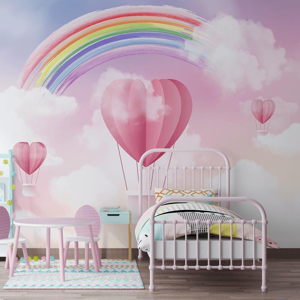 Papel De Parede - Arco iris e os balões