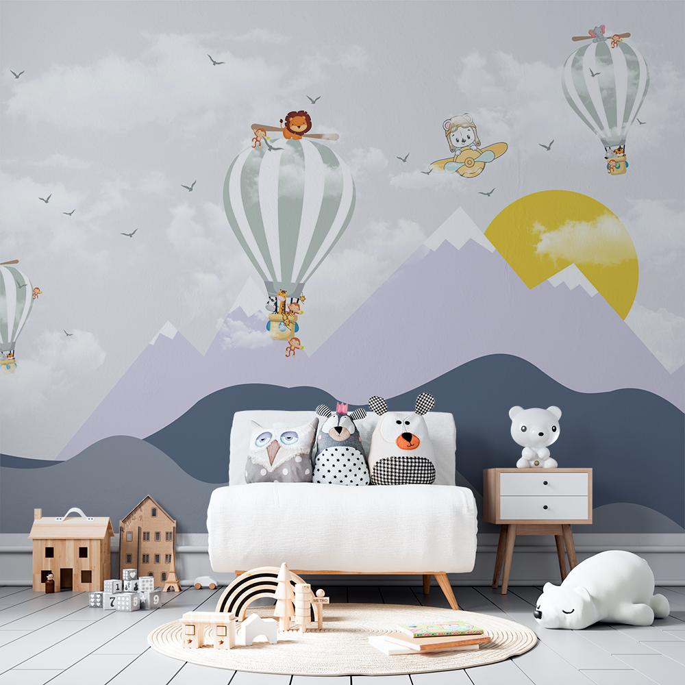 Papel De Parede - Balões e as Montanhas