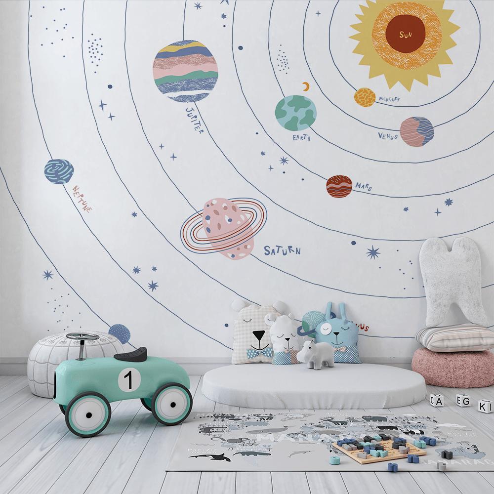 Papel De Parede - sistema solar isolada no fundo branco